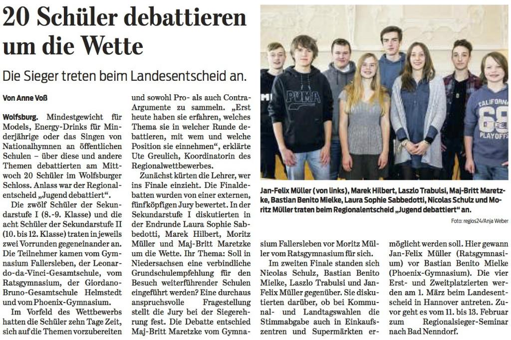Wolfsburger Nachrichten vom 04.02.2016